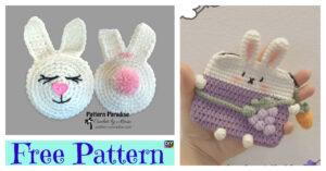 Cute Crochet Bunny Pouch - Free Patterns