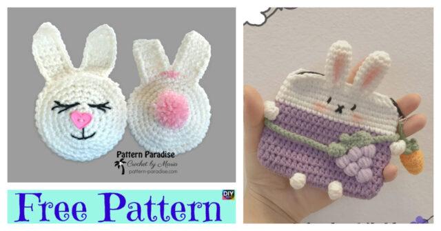 Cute Crochet Bunny Pouch – Free Patterns