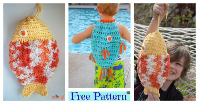 Fantastic Crochet Fish Bag – Free Patterns
