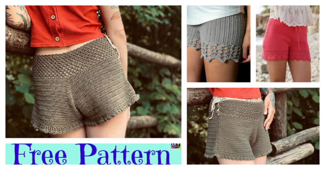 Pretty Crochet Lace Shorts – Free Patterns