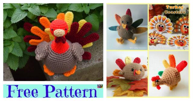 Thanksgiving Crochet Amigurumi Turkey – Free Patterns