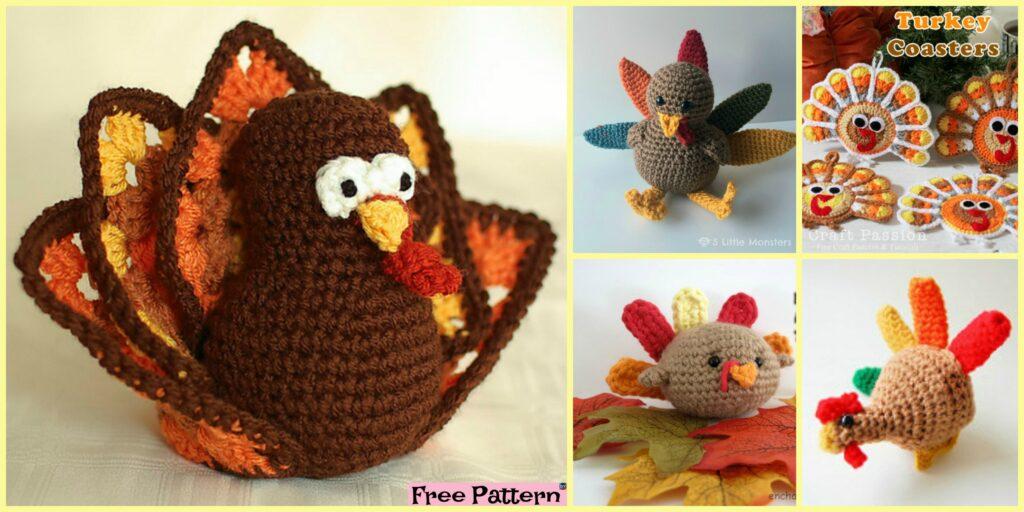 Thanksgiving Crochet Amigurumi Turkey - Free Patterns